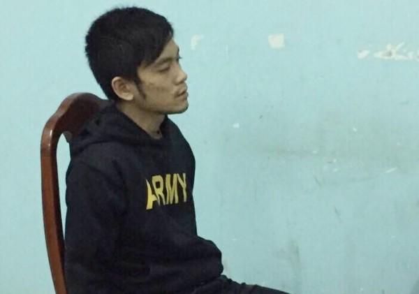 Nghi can Nguyễn Huỳnh Khương Linh khi bị bắt giữ tại cơ quan Công an