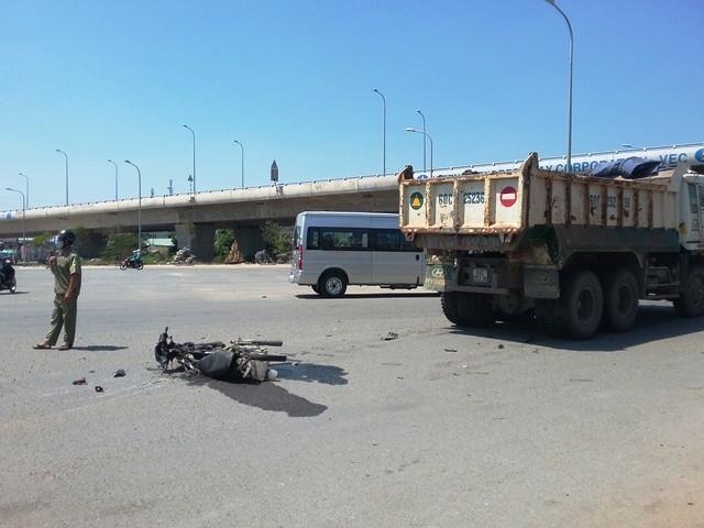 Hiện trường vụ tai nạn giao thông khiến 1 người tử vong