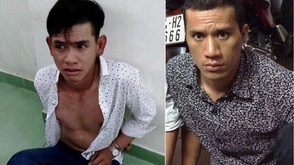 Nguyễn Phước Lộc (trái) và Trần Huỳnh Huấn (phải) khi bị bắt giữ