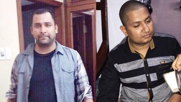 2 nghi can bị bắt giữ, trong đó trực tiếp cướp xe là Ravi Barkash (trái) và đồng phạm tích cực, là Moon Atfri (phải)