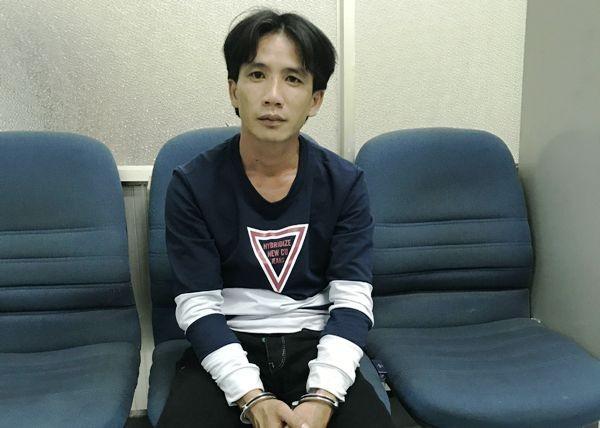 Đối tượng Lê Văn Nửa khi bị bắt giữ