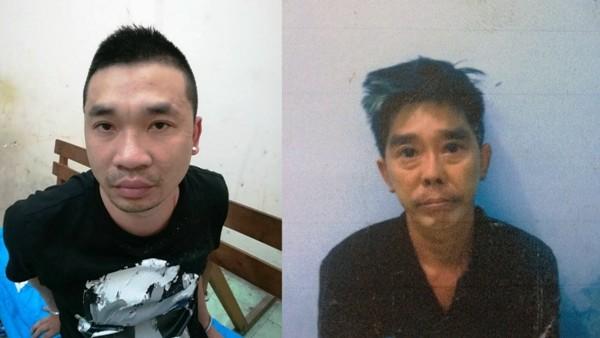 """Trùm ma túy Trần Ngọc Hiếu (trái) và anh họ, Nguyễn Đức Kỳ Nam, """"kỹ sư"""" chuyên điều chế thuốc lắc"""