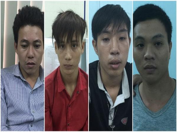 Các đối tượng tham gia vụ giết người tại quán ốc Huyền, ở huyện Hóc Môn