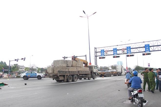 Hiện trường vụ tai nạn giao thông quận Thủ Đức