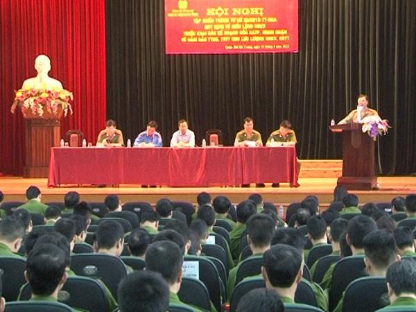 Lực lượng CSKV tham dự hội nghị tập huấn