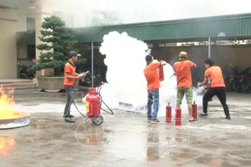 Diễn tập PCCC, ngừa hỏa hoạn cho làng nghề