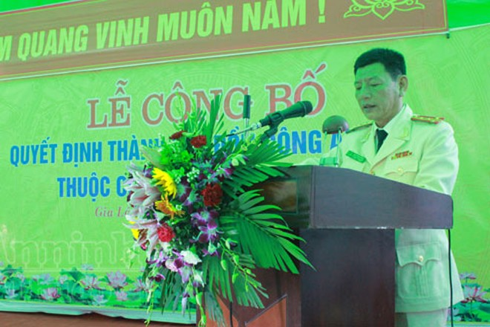Đại tá An Thanh Bình, trưởng CAH Gia Lâm cảm ơn sự quan tâm đặc biệt của lãnh đạo Bộ Công an, CATP Hà Nội , các cấp chính quyền đối với huyện Gia Lâm, xin hứa sẽ cùng CBCS tiếp tục nỗ lực trong công tác đấu tranh với tội phạm, bảo vệ bình yên địa bàn.