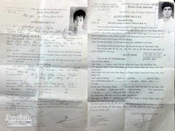 Trần Đăng Đại bị cơ quan điều tra truy nã về 2 tội cướp và trộm cắp tài sản