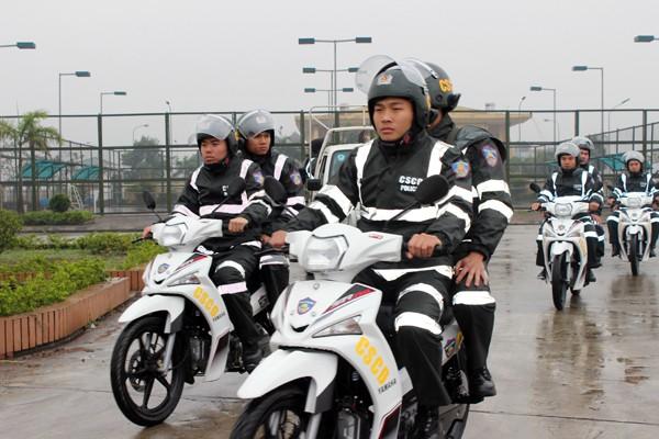 Triển khai lực lượng Cảnh sát cơ động ở khu vực Tây Nam Hà Nội ảnh 8