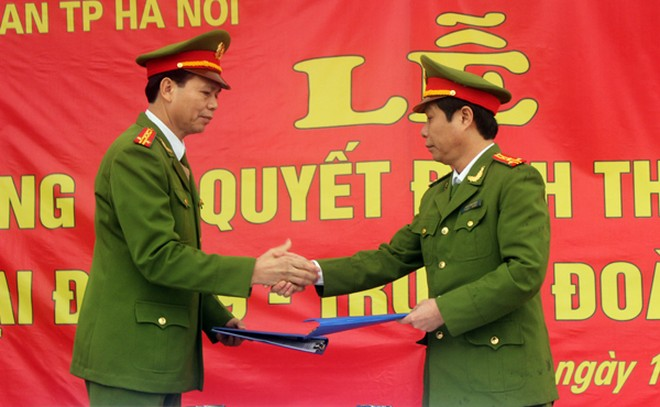 Trung đoàn CSCĐ và CAH Thanh Oai ký kết quy chế phối hợp