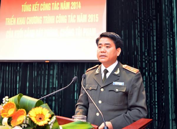 Thiếu tướng Nguyễn Đức Chung - Giám đốc CATP Hà Nội phát biểu chỉ đạo (ảnh Phú Khánh)