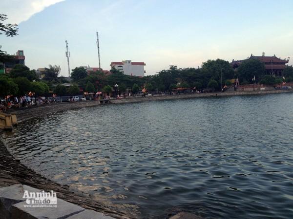 Hồ chùa Bầu - nơi xảy ra vụ đuối nước
