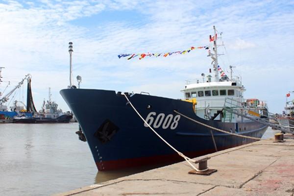 Sau lễ bàn giao, tàu CSB 6008 được biên chế cho Bộ Tư lệnh Vùng Cảnh sát biển 3