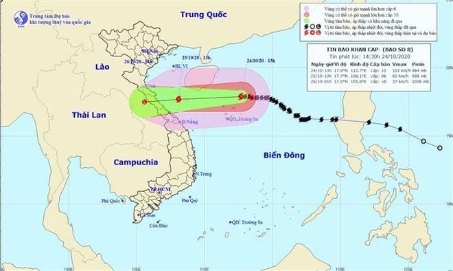 Khả năng có thêm 1 cơn bão đi vào Biển Đông từ đêm 26-10 ảnh 1