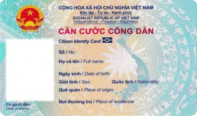 Thông tư: Quy định về mẫu thẻ căn cước công dân ảnh 1