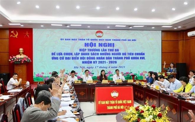 Hà Nội thống nhất danh sách 160 người ứng cử đại biểu HĐND thành phố khóa XVI ảnh 1