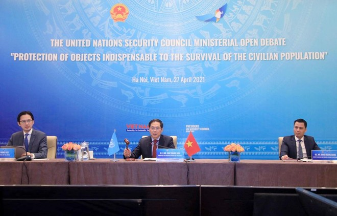 Việt Nam thúc đẩy sáng kiến về vấn đề bảo vệ cơ sở thiết yếu của người dân trong xung đột vũ trang ảnh 1