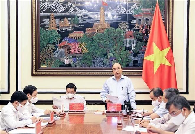Chủ tịch nước họp chiến lược xây dựng và hoàn thiện Nhà nước pháp quyền XHCN ảnh 1
