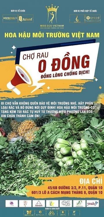 """Cuộc thi """"Hoa hậu môi trường Việt Nam"""" mở """"Phiên chợ 0 đồng"""" ảnh 1"""