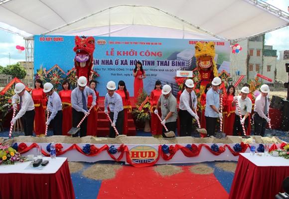 HUD khởi công dự án nhà ở xã hội tại Thái Bình ảnh 1
