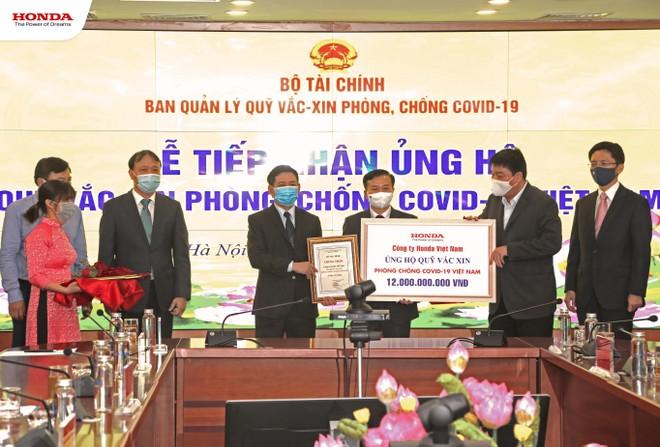 Honda Việt Nam ủng hộ 12 tỷ đồng vào Quỹ vaccine phòng Covid-19 ảnh 1