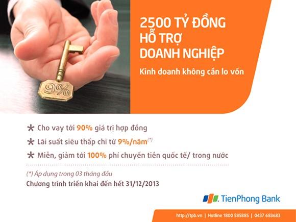 TienPhong Bank dành 2.500 tỷ đồng tín dụng lãi suất thấp cho doanh nghiệp ảnh 1