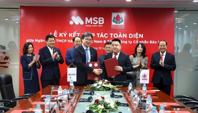 Tổng Công ty Cổ phần Bảo Minh ký kết hợp tác toàn diện với Ngân hàng TMCP Hàng Hải Việt Nam ảnh 1