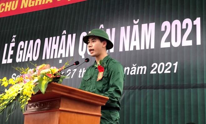 Thị xã Sơn Tây, Hà Nội tổ chức Lễ giao nhận quân năm 2021 ảnh 2
