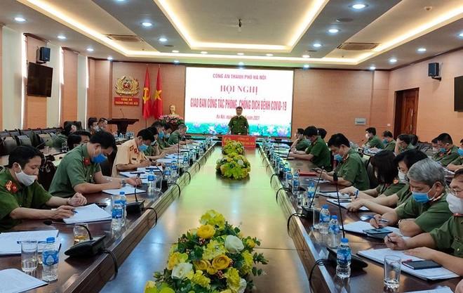 Công an Hà Nội tổ chức hội nghị giao ban công tác phòng, chống dịch bệnh Covid-19 ảnh 2