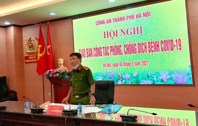 Công an Hà Nội tổ chức hội nghị giao ban công tác phòng, chống dịch bệnh Covid-19 ảnh 1