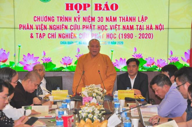 Lễ kỷ niệm 30 năm thành lập Phân viện Nghiên cứu Phật học Việt Nam tại Hà Nội và Tạp chí Nghiên cứu Phật học ảnh 1
