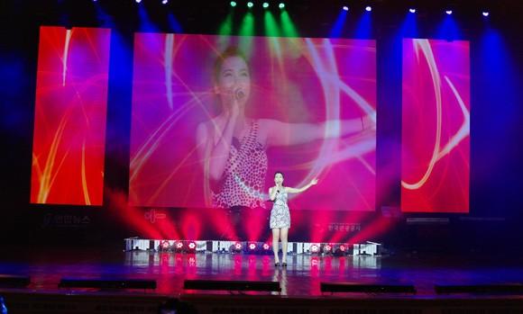 """Hoàng Thu Thủy với bài hát """"Heaven"""" đã giành ngôi vị cao nhất của cuộc thi."""