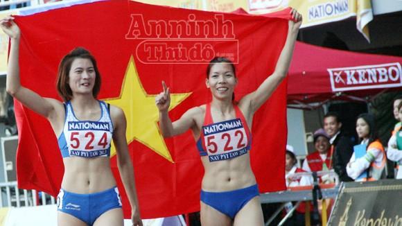 Vũ Thị Hương hoàn tất cúp đúp Vàng tại SEA Games 27 ảnh 2
