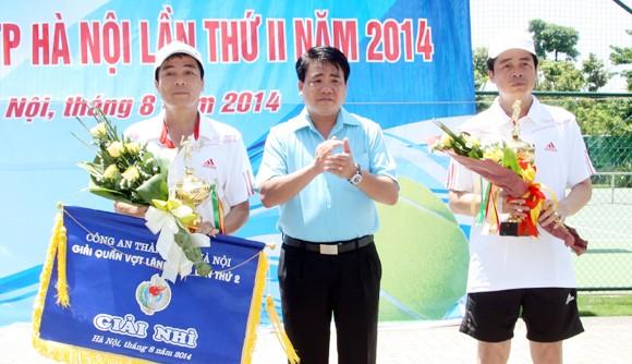 Dư âm đẹp giải Quần vợt Lãnh đạo CATP Hà Nội 2014 ảnh 2