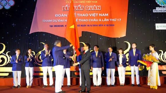 Phó Thủ tướng Vũ Đức Đam giao nhiệm vụ cho đoàn thể thao Việt Nam trước khi lên đường dự ASIAD 2014