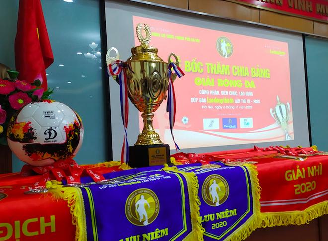 22 đội bóng tranh cúp Báo Lao động Thủ đô năm 2020 ảnh 1