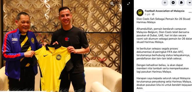 ĐT Malaysia bổ sung cầu thủ gốc Bỉ đấu tuyển Việt Nam ảnh 1