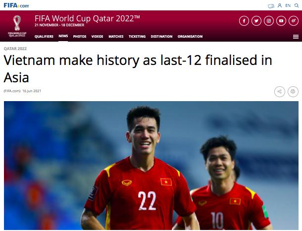 FIFA: 'Tuyển Việt Nam làm nên lịch sử' ảnh 1
