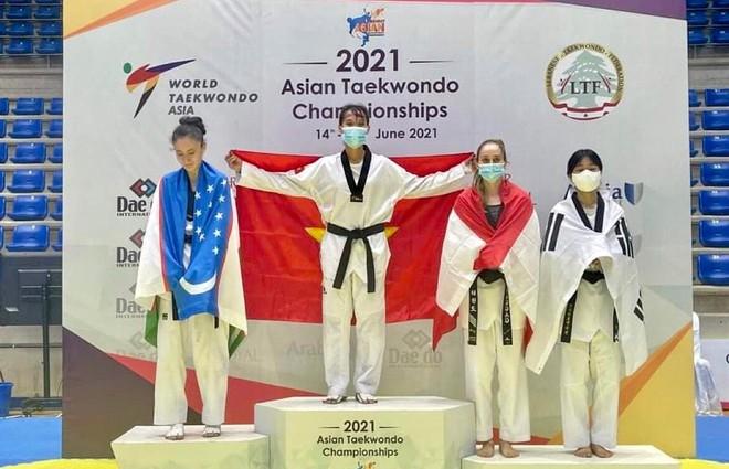 Nữ võ sỹ Việt xuất sắc vô địch giải Taekwondo châu Á ảnh 1