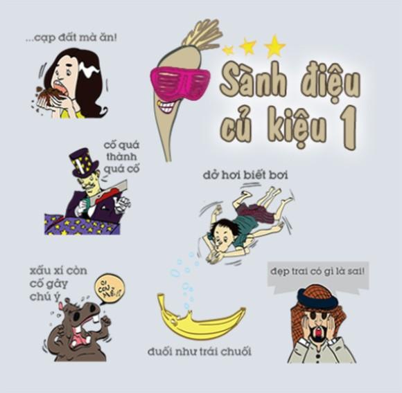 Sao Việt ngộ nghĩnh trong bộ sticker mới trên Zalo ảnh 1