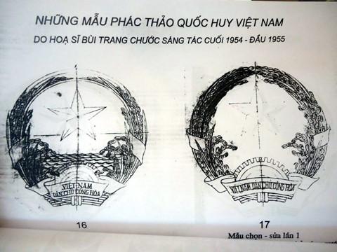 Trưng bày phác thảo Quốc huy Việt Nam của họa sĩ Bùi Trang Chước ảnh 2