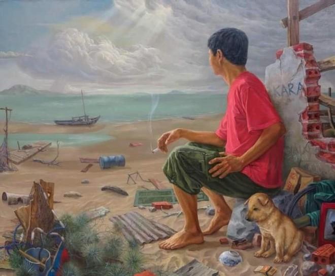 50 năm nghệ thuật sơn dầu và tranh in Lê Huy Tiếp ảnh 2