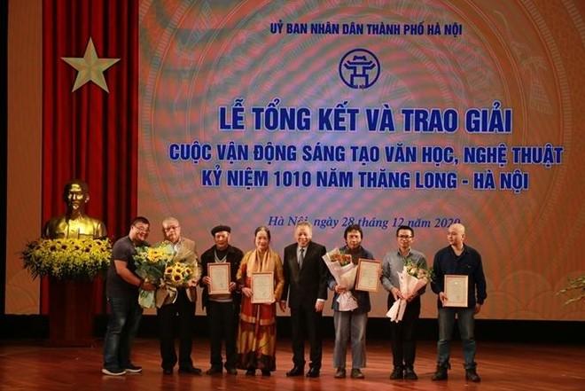 55 tác giả, nhóm tác giả đoạt giải sáng tác về 1010 năm Thăng Long – Hà Nội ảnh 1
