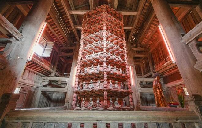 Tòa Cửu phẩm liên hoa chùa Bút Tháp được công nhận là Bảo vật quốc gia ảnh 1
