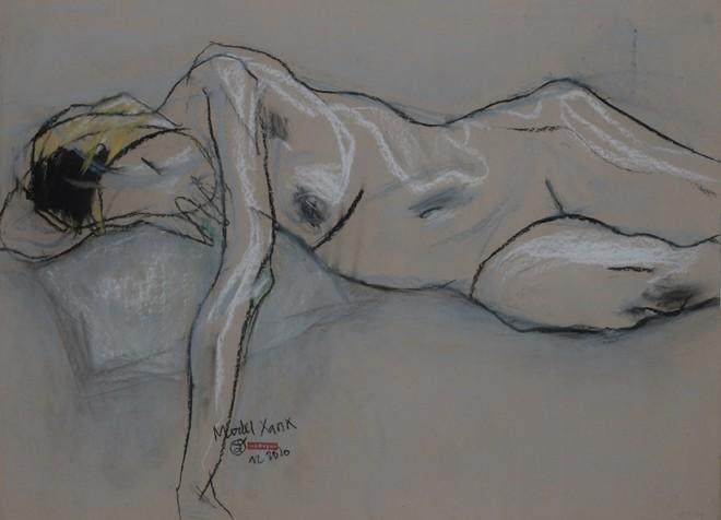 Trưng bày 80 tác phẩm trực họa mẫu nude ảnh 2