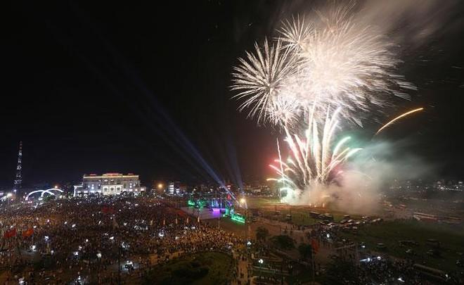 Bắn pháo hoa nhân dịp Giỗ Tổ Hùng Vương 2021 ảnh 1