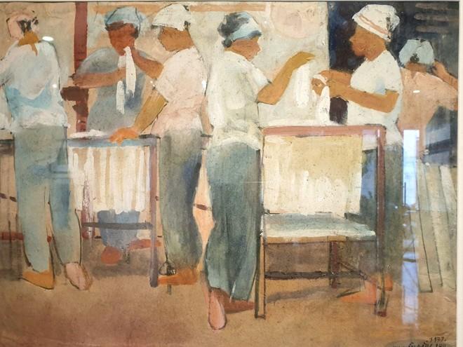 Tranh bột màu Nguyễn Đăng Phú: Ôn lại thời thanh niên sôi nổi đã đi qua gần 50 năm ảnh 1