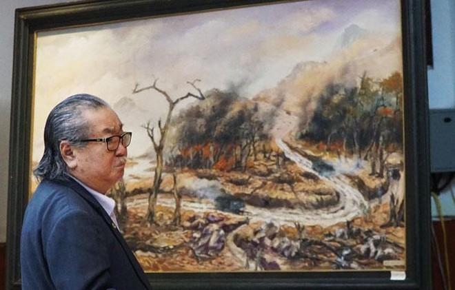 """Cựu chiến binh Đoàn 559 bày triển lãm tranh """"Còn lại với Trường Sơn"""" ảnh 2"""