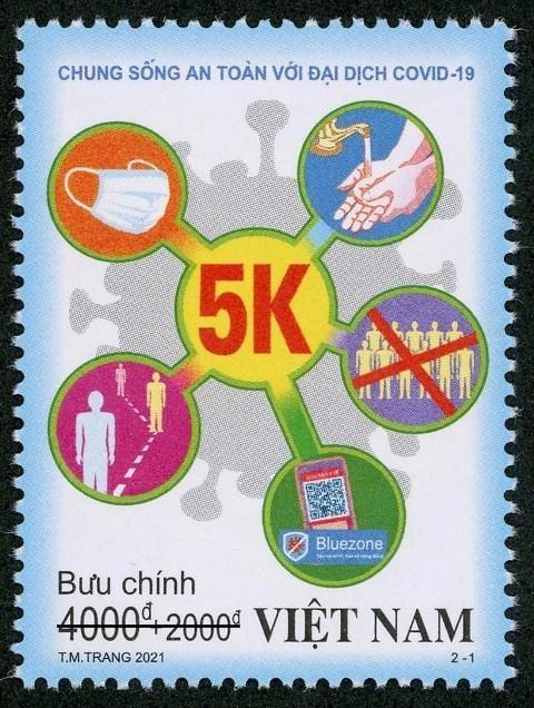 """Phát hành bộ tem """"Chung sống an toàn với đại dịch Covid-19"""" ảnh 1"""