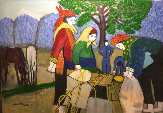 Cô giáo dạy Văn 76 tuổi ra mắt triển lãm mỹ thuật gây bất ngờ cho giới họa sĩ ảnh 9